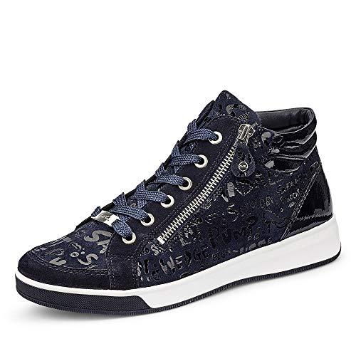 ara Damen ROM Hohe Sneaker, Blau, Navy 05), 37 EU(4 UK)