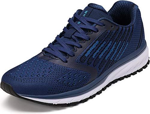 WHITIN Unisex Sportschuhe Damen Herren Turnschuhe Laufschuhe Sneakers Männer Walkingschuhe Modisch Bequem Joggingschuhe Fitness Schuhe Blau Größe 42