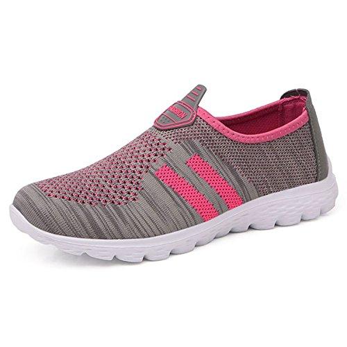 JIANKE Herren Damen Leichte Freizeitschuhe Atmungsaktiv Turnschuhe Sportschuhe Bequem Outdoor Fitnessschuhe Sneaker 40