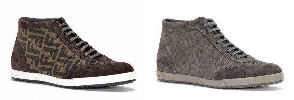 Luxus Sneakers von Burberry und Fendi