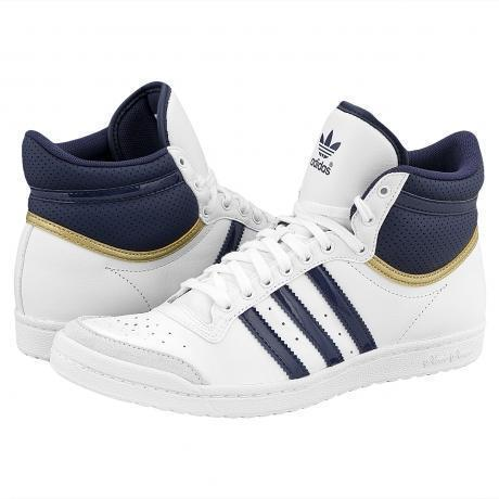 Adidas Top Ten Hi Sleek Sneakers White/Metallic Gold/Marine