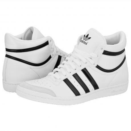 Adidas Top Ten Hi Sleek Women Shoes White/Black/White