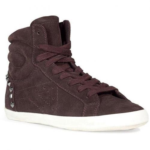 Dark Brown Studded Sneakers