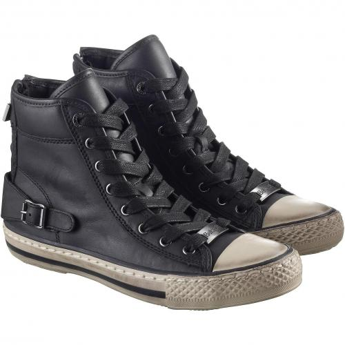belstaff damen sneakers new jair high schwarz grau. Black Bedroom Furniture Sets. Home Design Ideas