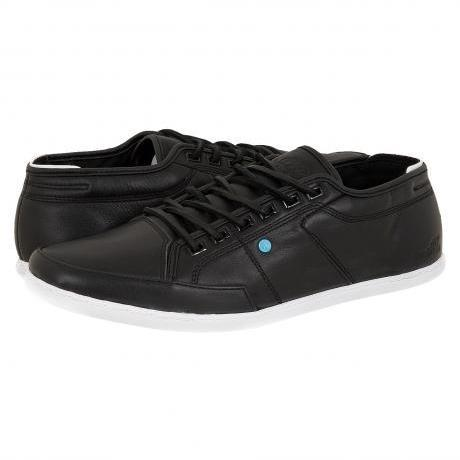 Boxfresh Sparko Leather Sneakers Black/White Sole