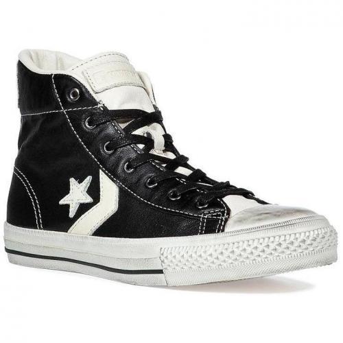 Black JV Star Player mid sneakers