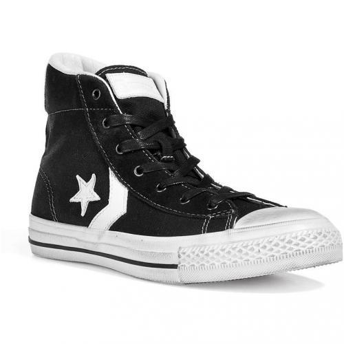 Black/White John Varvatos Star Player Mid Sneakers