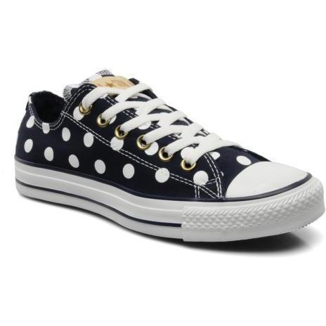 Converse - Chuck Taylor All Star Polka Dot Ox W by Converse - Sneakers für Damen / blau