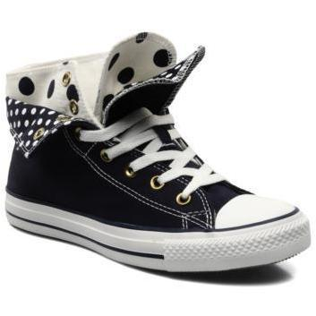 Converse - Chuck Taylor All Star Polka Dot Two Fold Hi W by Converse - Sneakers für Damen / blau