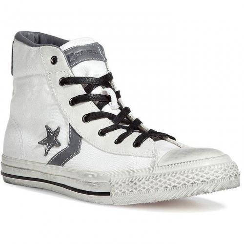 White/Charcoal John Varvatos Star Player Mid Sneakers