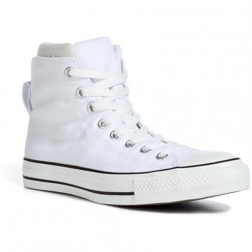 White/Grey Chuck Taylor All Star Dual Coll Hi Sneakers