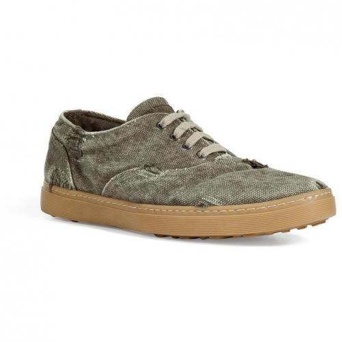 Khaki Destroyed Canvas Sneakers
