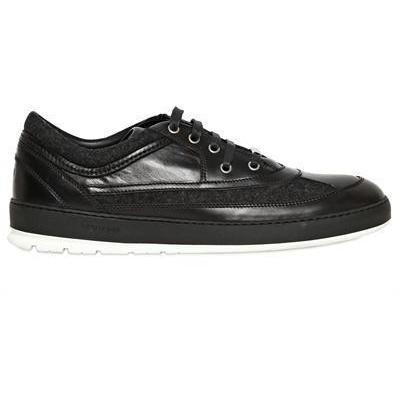Dior Homme - Flannel & Leder Sneakers