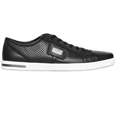 Dolce & Gabbana - Perforierte Nappa Veredelte Leder Sneakers