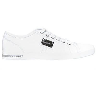 Dolce & Gabbana - Uk Metall Logo Plaquet Sneakers