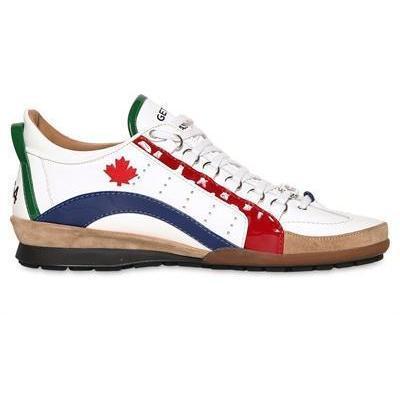 Dsquared - Patent Streifen Leder Sneakers