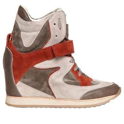 Elena Iachi - 70Mm Wildleder Und Kalb Sneakers