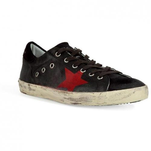Black and Red Superstar Sneakers