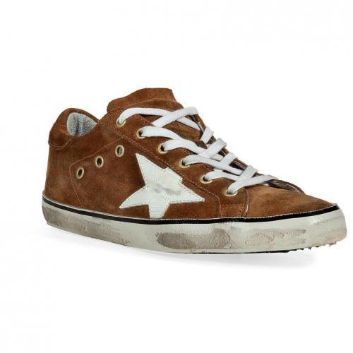 Camel Suede Superstar Sneakers