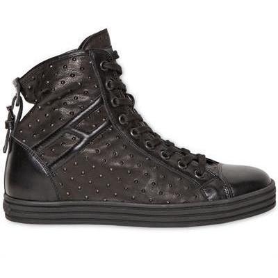 Hogan Rebel - 20Mm Nieten Leder Sneakers