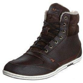 HUB EXPRESS Sneaker dark brown/ white