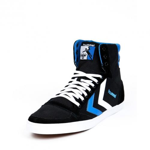 Slimmer Stadil High Canvas Black/Brilliant Blue/white