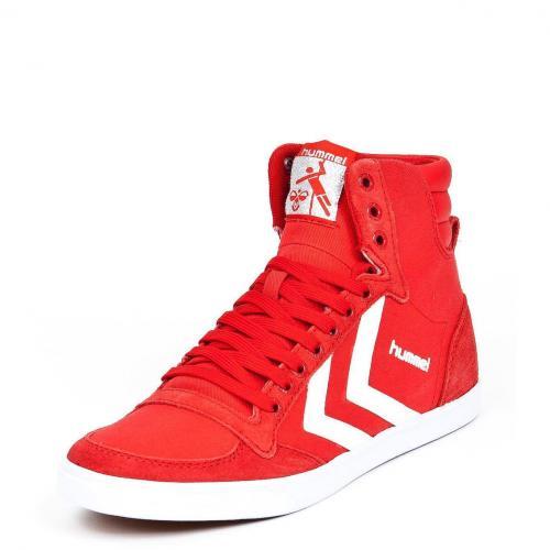 Slimmer Stadil High Canvas Ribbon Red/White