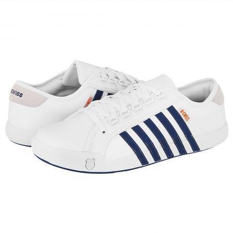 K-Swiss Newport Sneaker White/Navy/Orange