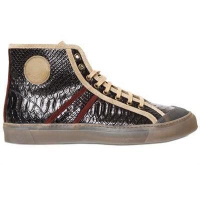 Marc Jacobs - Schlangen Druck Kalbsleder Hohe Sneakers