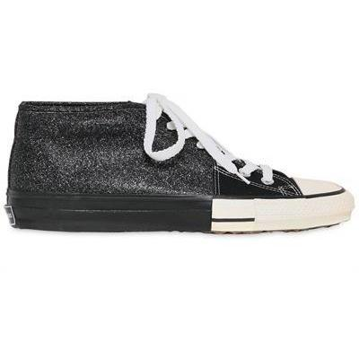 Miharayasuhiro - Glitzer Und Canvas Hohe Sneakers
