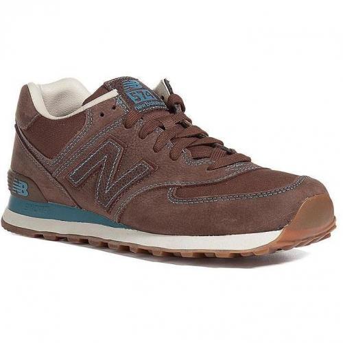 Medium Brown/Light Blue Sneakers