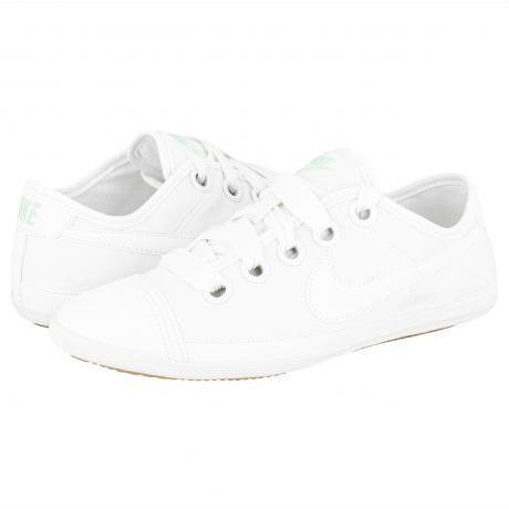 brand new ad42d e8e37 Nike Woman Flash Leather Macro Sneakers Summit White/Summit ...