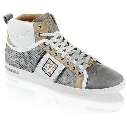 Marinella Nostalgia Sneaker Pantofola d'Oro grau kombiniert