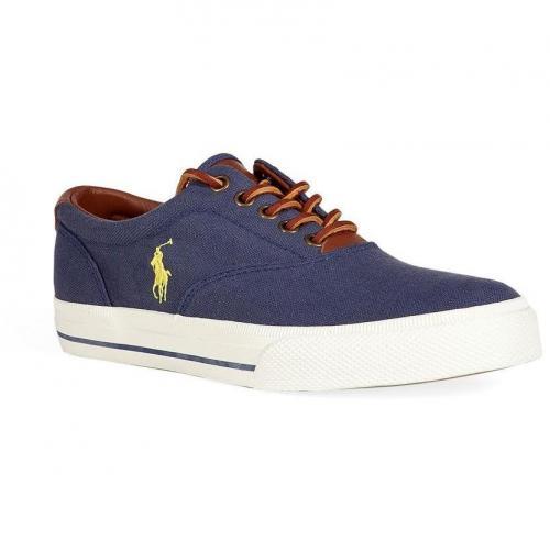 Aviator Navy Canvas/Leather Vaughn Sneakers