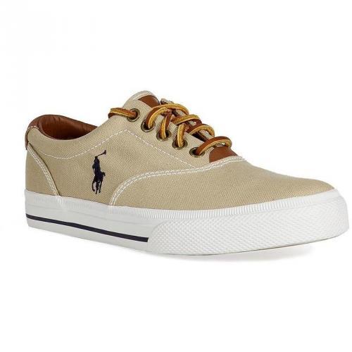 Khaki Canvas/Leather Vaughn Sneakers