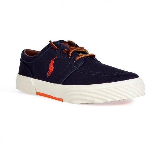 Navy Canvas Faxon Low Sneakers