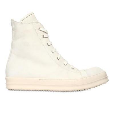 Rick Owens - Seitlicher Zip Kalbsleder Sneakers