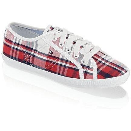 Victoria Sneaker Tommy Hilfiger rot kombiniert
