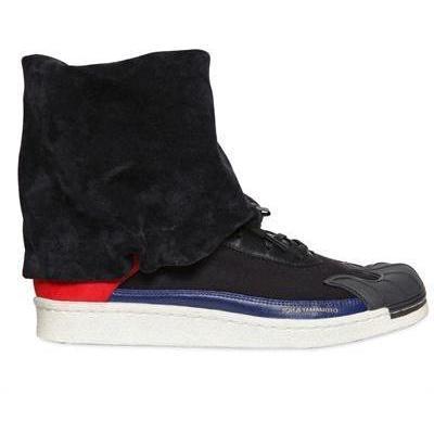Y-3 - Wildleder & Leder Nomad Stern Sneakers