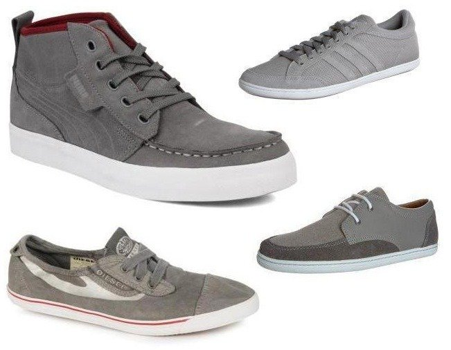 Sneaker-Farbpsychologie - Graue Sneakers